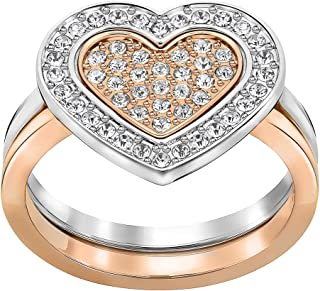 Swarovski Cupid Gold Plated Crystal Promise Ring - Size L