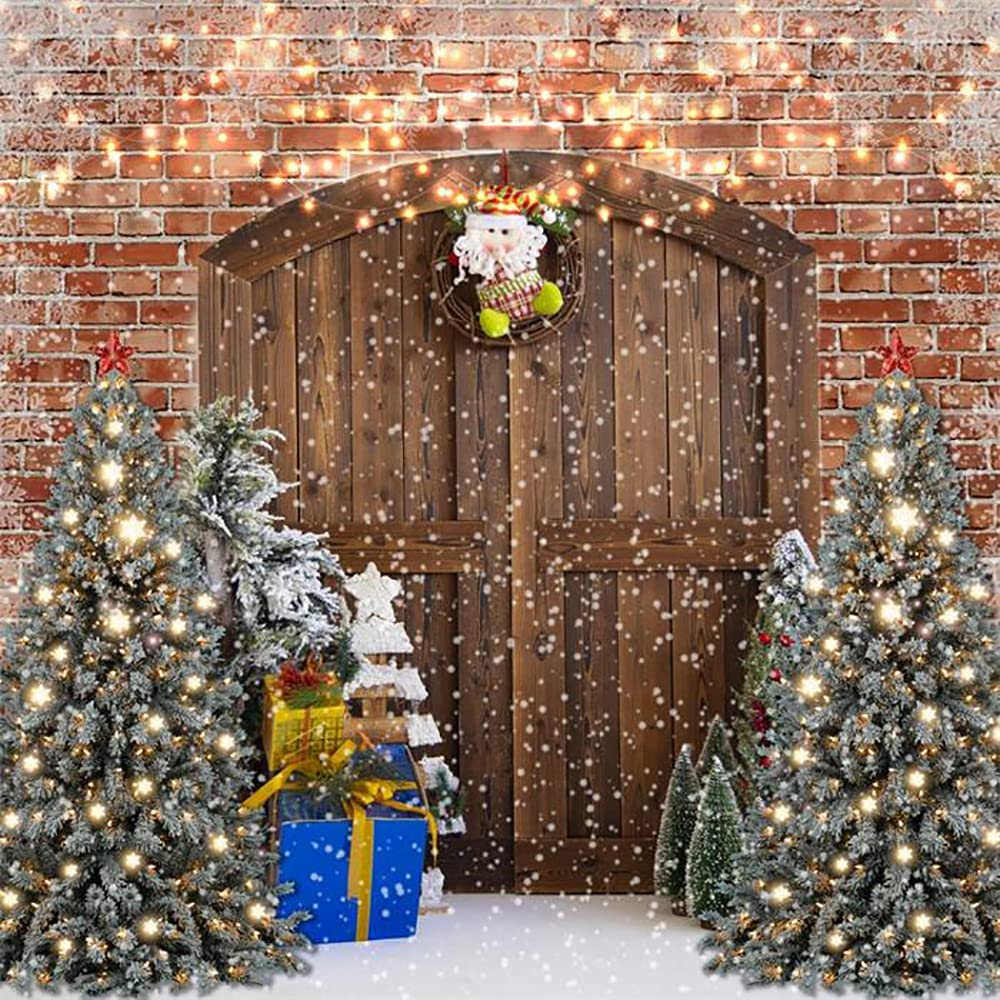 Kate 10x10ft Christmas Wood Gate Backdrops 70% OFF Outlet Photog for Decoration 2021new shipping free