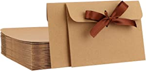 Driew 50 Pack Envelopes, 6.7 x 5 inches Kraft Paper Envelopes Card Envelopes for Wedding Invitations, Baby Shower