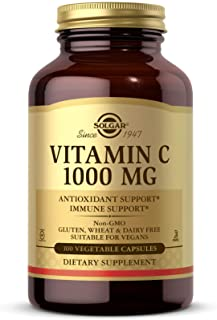 Solgar Vitamin C 1000 mg, 100 Vegetable Capsules - Antioxidant & Immune Support - Overall Health - Healthy Skin & Joints -...