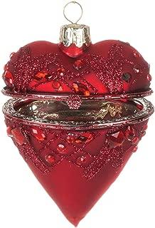 Sullivans Glass Heart Shaped Christmas Ornament Box