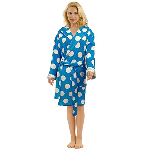 ddc26ae571 Terry Cotton Hooded Bathrobe for Women