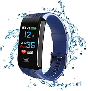 GXSLKWL Fitness Tracker, IP67 Waterproof Smart Bracelet with Pedometer Tracker Color Display Blood Pressure Heart Rate Sle...
