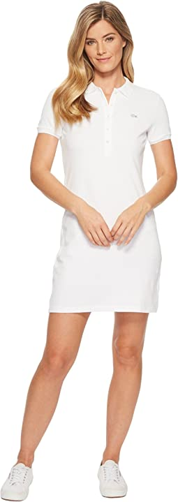 e71adebf5c45 Lacoste. Short Sleeve Pique Polo Dress.  155.00. 5Rated 5 stars. White