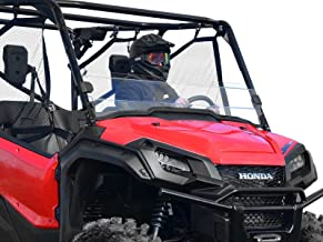 SuperATV Heavy Duty Scratch Resistant Half Windshield for Honda Pioneer 1000/1000-5 (2016+) - Clear - Hard Coated for Extreme Durability - Installs In 5 Minutes!