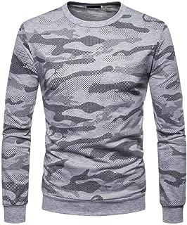 Casual Men's Long Sleeve Tops Sweatshirt,Camouflage Mens Hipster Hip Hop Basic Sweatshirts Pullover Hoodie Jacket