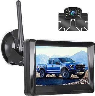 $138 » 5 Inch Digital Wireless Backup Camera LCD Monitor Kit 1080P HD Waterproof Super Night Vision Wide Viewing Angle Rear View ...