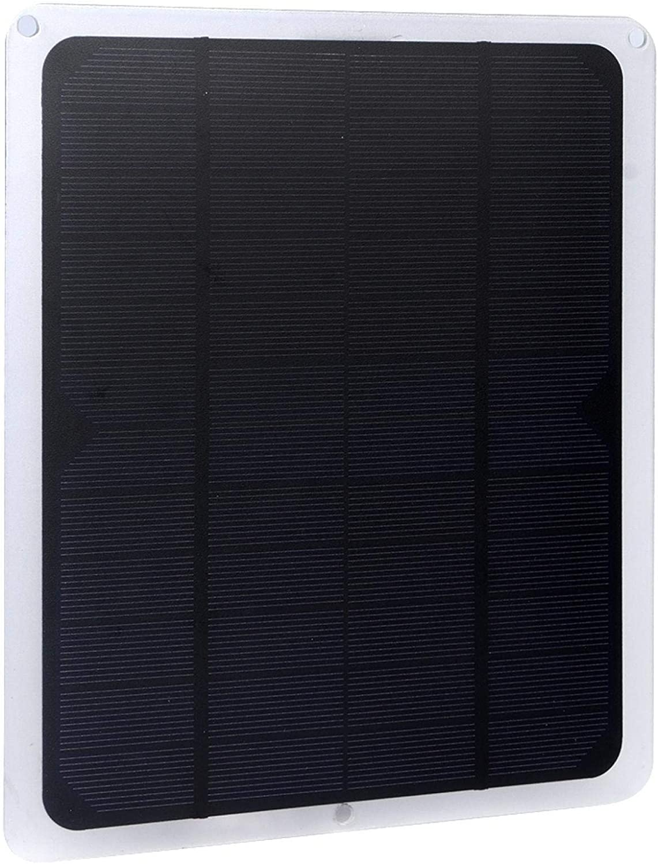 KUIDAMOS Panel Solar de silicio monocristalino, Panel Solar de Paneles fotovoltaicos de silicio portátil Ligero de 10 W para Ventilador pequeño USB