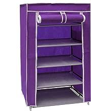 Vogue 5 Layer Shoe Organizer Purple - 60L x 30W x 90H cm