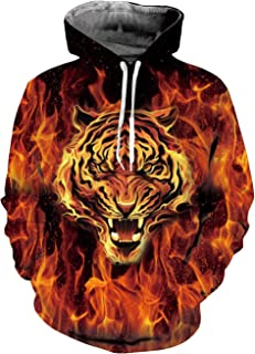 Goodstoworld Unisex Cool 3D Print Hoodies Fleece Liner Upgrade Quality Pullover Sweatshirt with Front Pocket S-XXL