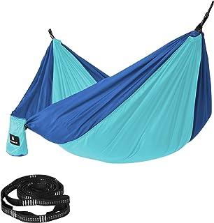 SONGMICS Hamaca de Camping, 275 x 140 cm, 300 kg Capacidad