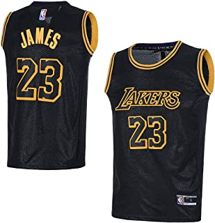 d28ebdd1d82 OuterStuff Youth Los Angeles Lakers  23 LeBron James Kids Basketball Jersey