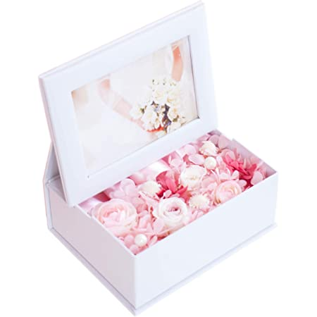 Ruplan プリザーブドフラワー 写真立て 『photo flower box フォトフラワーボックス』 (ピンク)