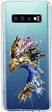 Oihxse Cristal Clear Coque pour Samsung Galaxy S10 5G Silicone TPU Souple Protection Etui [Jolie Aquarelle Animal Design] ...