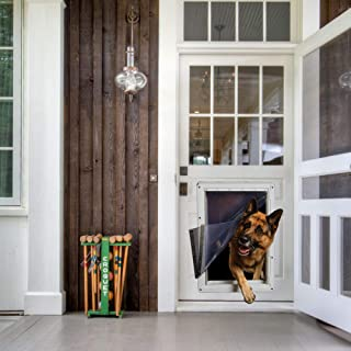 """Ideal Pet Products Designer Series Ruff-Weather Pet Door with Telescoping Frame, Super Large, 15"""" x 23.5"""" Flap Size"""