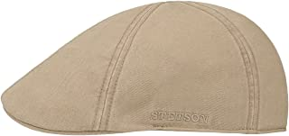 Stetson Texas Cotton Flat Cap with UV Protection 40+ - Cotton Peaked Ivy Cap - Solid-Color Cap for Spring/Summer