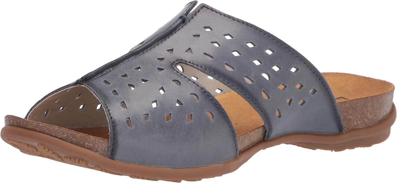 Propet Women's Fionna Slide Sandal, Blue, 8.5