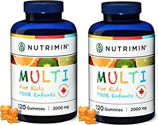 Sponsored Ad - Nutrimin Multi+ Gummy for Kids - Allergen Free Vegetarian Vitamins and Nutrients - 240 Count of Halal Multi...