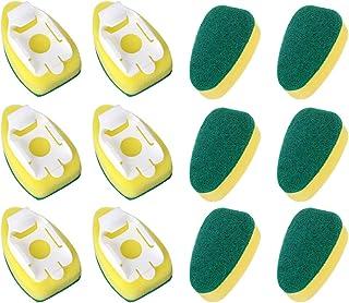 Dish Wand Refills, CAMTOA Sponge Heads Brush, Kitchen Cleaning Sponge Pads,Heavy Duty Dish Wand Brush Replacement Sponge R...