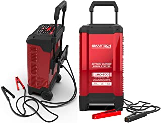 Smartech WBC-200 Wheel Automotive Battery Charger, For All 6V & 12V Batteries, 200 Amp Engine Start & 40 Amp Boost Function, Digital Readout Display, Microprocessor for Safe, Fast, & Easy Charging