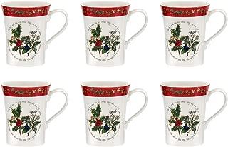 Portmeirion Holly And Ivy Mug 0.35l - Set of 6