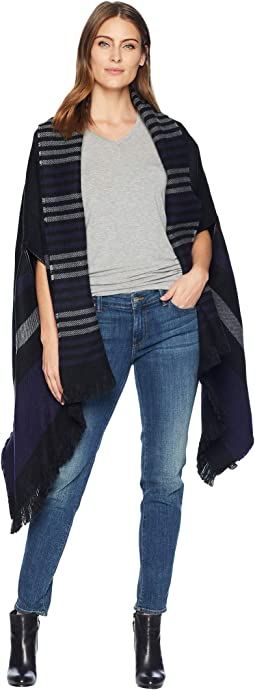 Reversible Striped Ruana