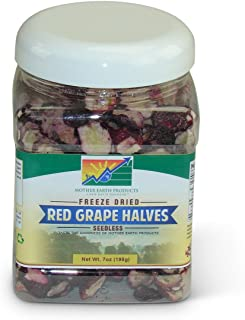 Mother Earth Products Seedless Red Grape Halves in Quart Jar, 7 Ounce