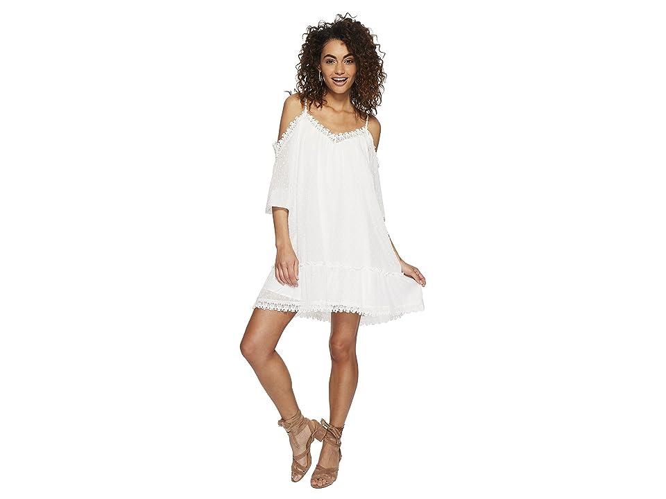 BB Dakota Millie Chiffon Dot Dress (Ivory) Women