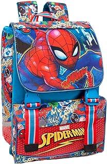 Marvel Spiderman 46112 Zaino da Scuola, Estensibile, Poliestere, Multicolore