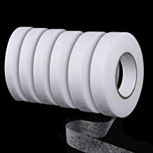 UNIME 6 Pieces 70 Yards Fabric Fusing Tape Hem Tape Adhesive Iron-on Hemming Tape Roll 10 mm, 15 mm, 20 mm Wide for Clothes