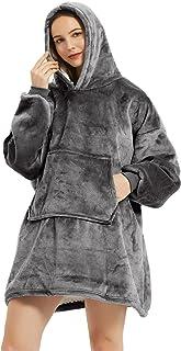 DZQ RSDF Couverture à Capuche Adulte, Couverture de Sweat à Capuche surdimensionnée, Robe de Chambre en Polaire Super Douc...