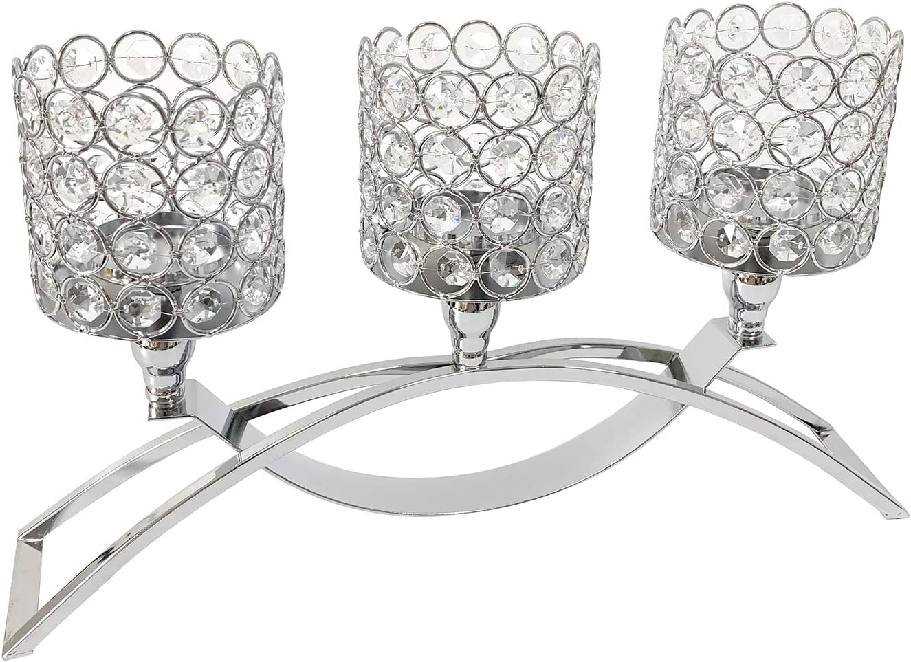 Gold Tampa Mall Fortune Recommendation Crystal Candle Holders with 3 for Candelabras Stand