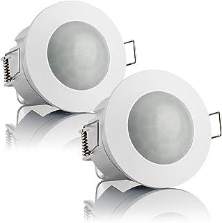 LED Adecuado Montaje Superficie en Techo SEBSON Detector de Movimiento Exterior IP65 Sensor de Infrarrojos programable 8m // 360/°
