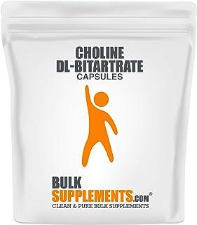 Bulksupplements Choline DL-Bitartrate (300 Vegetarian Capsules)