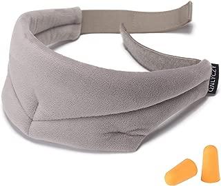Natural Silkworm Sleep Eye mask,Travel Eye mask,Breathable Eye Protection,Adjustable 3D Sleep Eye mask,Light and Comfortable,Super Soft,Suitable for Travel/Snoring/Sleep (Grey)