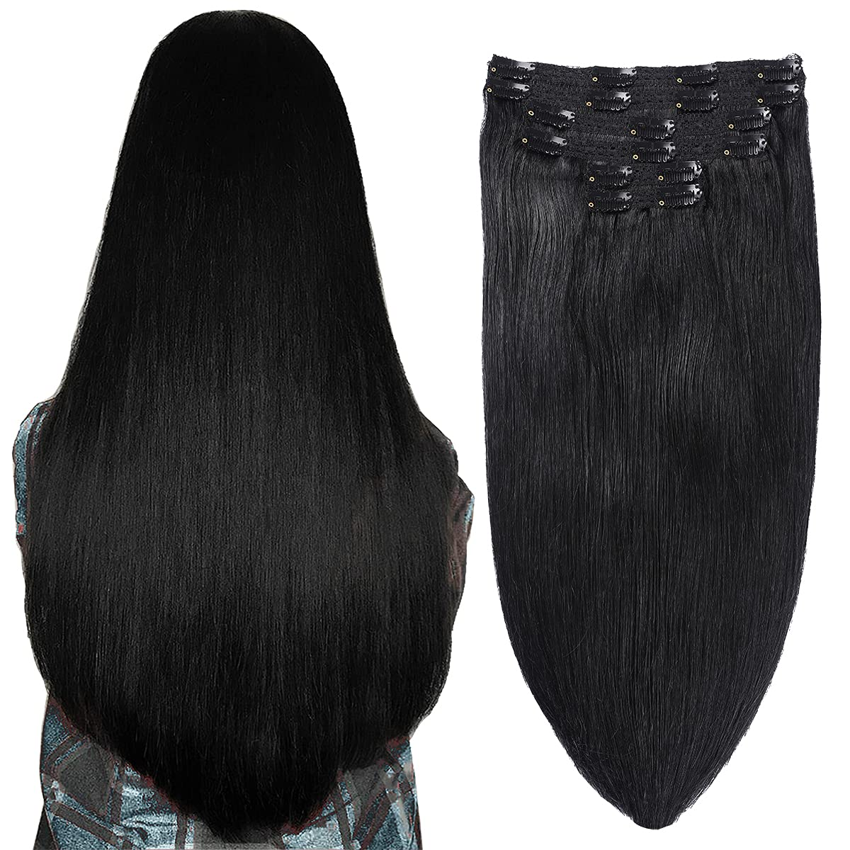 SURNEL Clip in Human Hair Exten Extensions Ranking TOP13 14inch 6pcs Recommended 100g