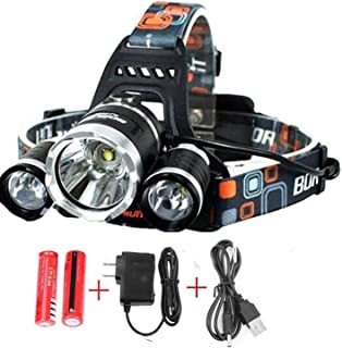 Headlamp. USB Rechargeable LED Head Lamp.Gifts for Men Dad Him and Women Ultra Bright CREE 20000 Lumen Head Flashlight Hea...