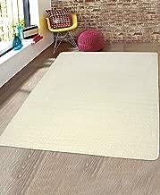 Saral Home Neon Shaggy Yarn Anti-Skid Carpet (Ivory, 150X210 cm)