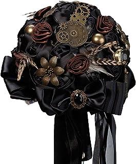 Lillian Rose Fashionable Steampunk Theme Wedding Bouquet, Black