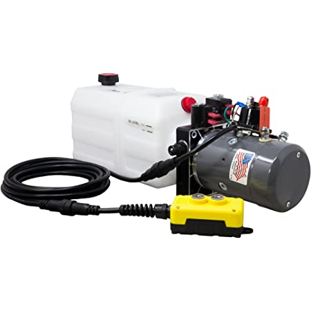 KTI Double Acting 12V Hydraulic Pump - 6 Quart