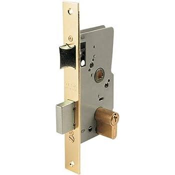 Tesa Assa Abloy, 20105PHL, Cerradura de embutir para puertas de madera, Función de entrada, Acero Latonado: Amazon.es: Bricolaje y herramientas