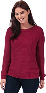 French Connection Womens Mara Mozart Crew Neck Jumper in Baked Cherry.