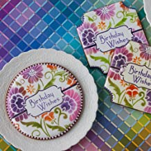 Birthday Wishes Prettier Plaques Cookie Stencil Set by Julia Usher