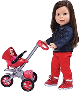 """Bye Baby Doll Stroller Play Set for 18"""" Dolls - Great for American Girl Dolls & Doll Accessory Set"""