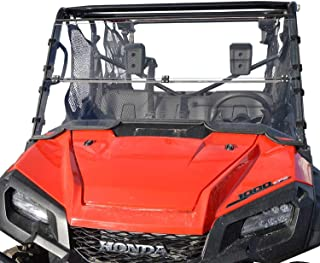 Clearly Tough Honda Pioneer 1000/1000-5 Windshield - Full Folding - Scratch Resistant - The Ultimate in Side by Side Versatility!Premium Polycarbonate w/Hard Coatmade in America!!