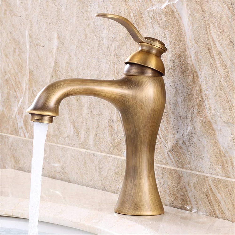 Pyty123-Faucet Faucet Copper Antique Hot And Cold Basin Faucet European Pastoral Retro Faucet, B
