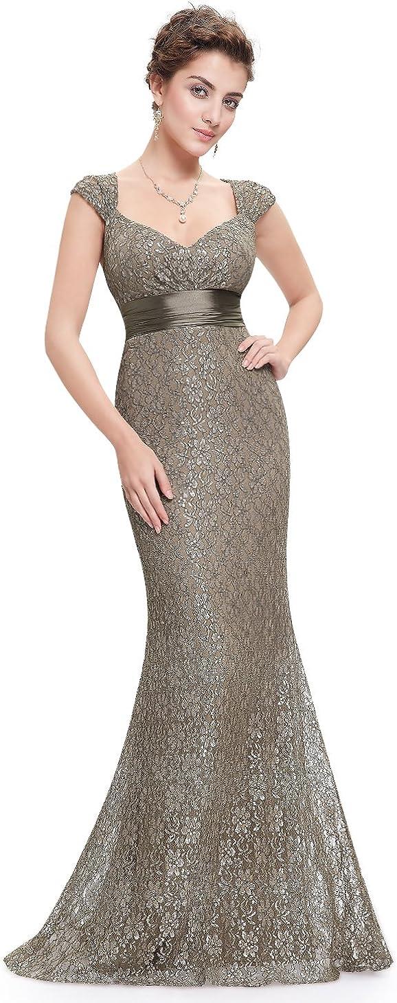 Ever-Pretty Womens Short Sleeve Long Elegant Military Ball Evening Dress