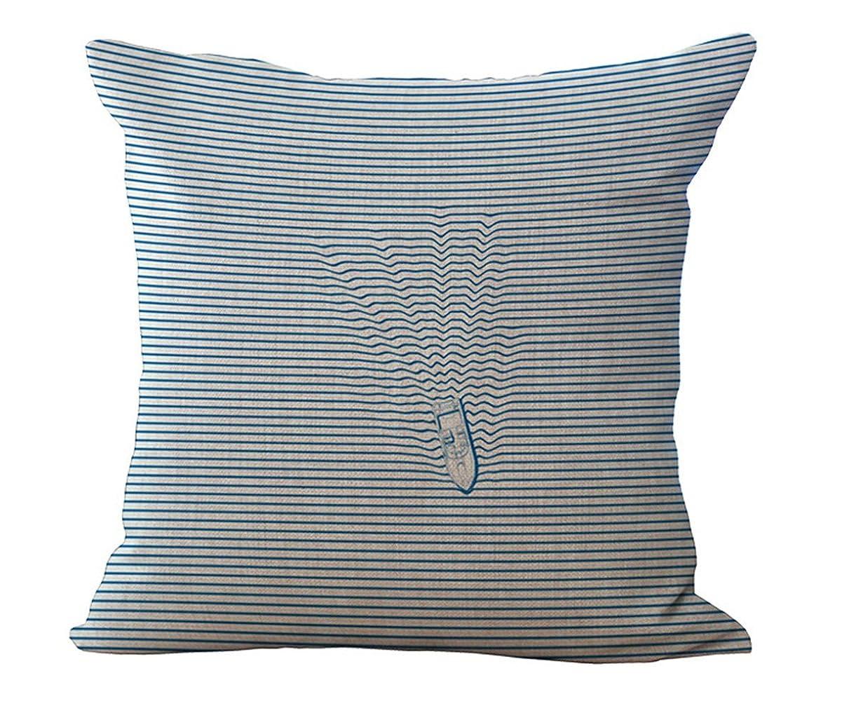 患者高潔な最終的にBQ 正方形装飾枕カバー クッションカバー 45x45cm 神秘的な青い海 鯨 魚 鮫 海の波 柄 抱き枕カバー ソファの装飾 家の装飾