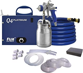 Fuji Q4 Quiet HVLP Spray System with Bottom Feed Cup Kit and Accessory Bundle
