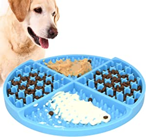 Bangp Slow Feeding Licking Mat for Dogs,Durable Healthy Design Slow Feeder to Aid Pets Digestion,Relieve Anxiety and Boredom,Dog Puzzle Toy Treat Dispensing Mat,for Peanut Butter,Treats,or Yogurt